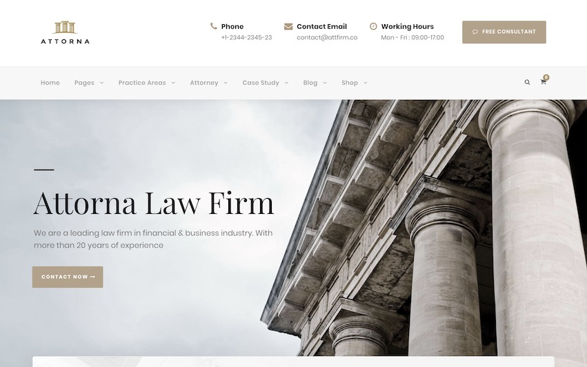 Attorna Law Firm Site - by kaplanmediagroup.com