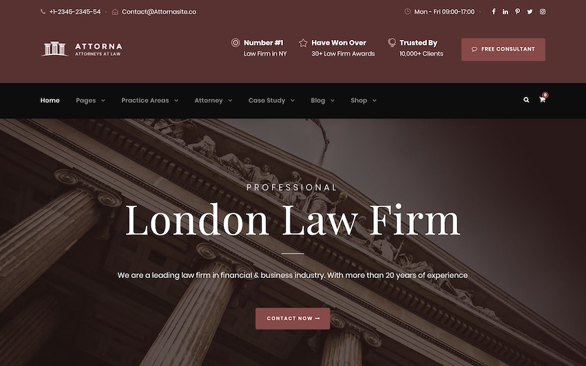 London Law Firm Site - by kaplanmediagroup.com