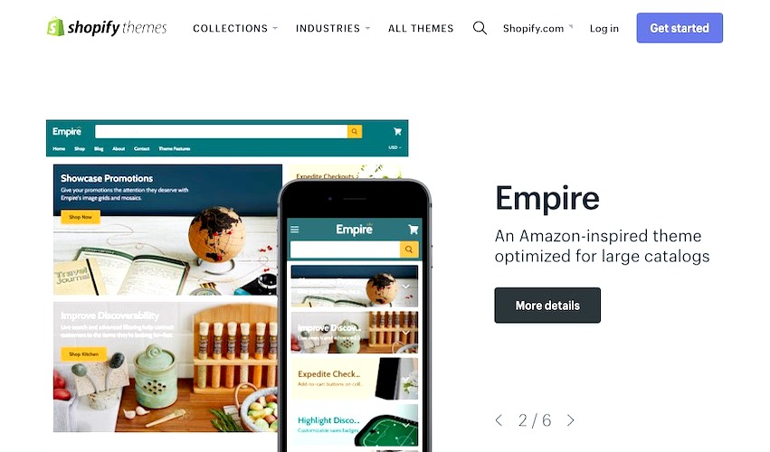Shopify Store - Empire Products | We Create Your Shopify Store | kaplanmediagroup.com