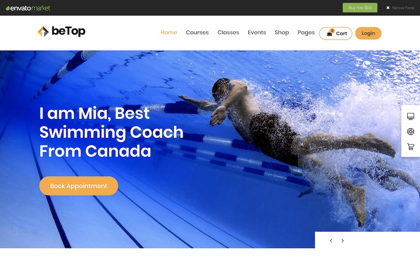 Swim Coach Site - by kaplanmediagroup.com